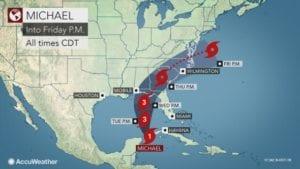 Hurricane Michael storm track 10082018 300x169 - Hurricane Michael