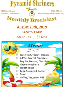 Pyramid Breakfast 08202019 218x300 - Shriners' Monthly Breakfast This Sunday!