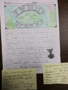 Chapel School 2nd Graders Thank-You Artwork.  From 2011. Amazing!
