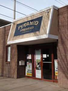 Pyramid Shriners building 02262021 225x300 - Sunday Lunch is back at Pyramid Shriners